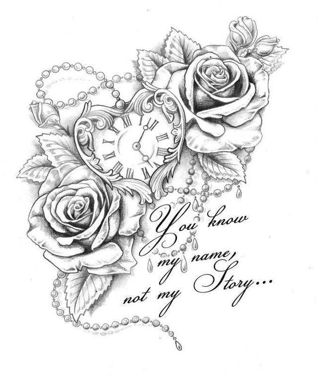 Tattoo taschenuhr oberschenkel  Pin von sabine fledderman auf ~~Tattoo(INK)~~ | Pinterest ...