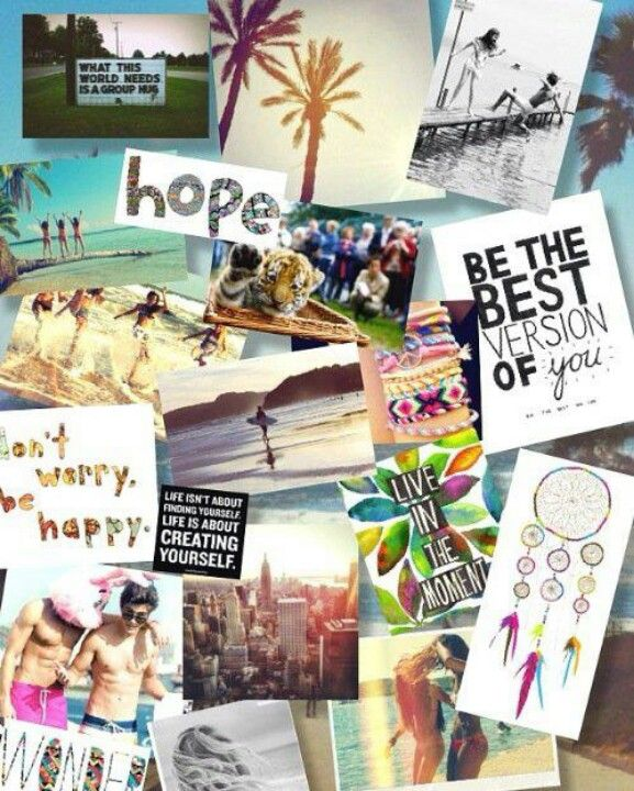 Have fun cutting and sticking a Vision board for daily ...