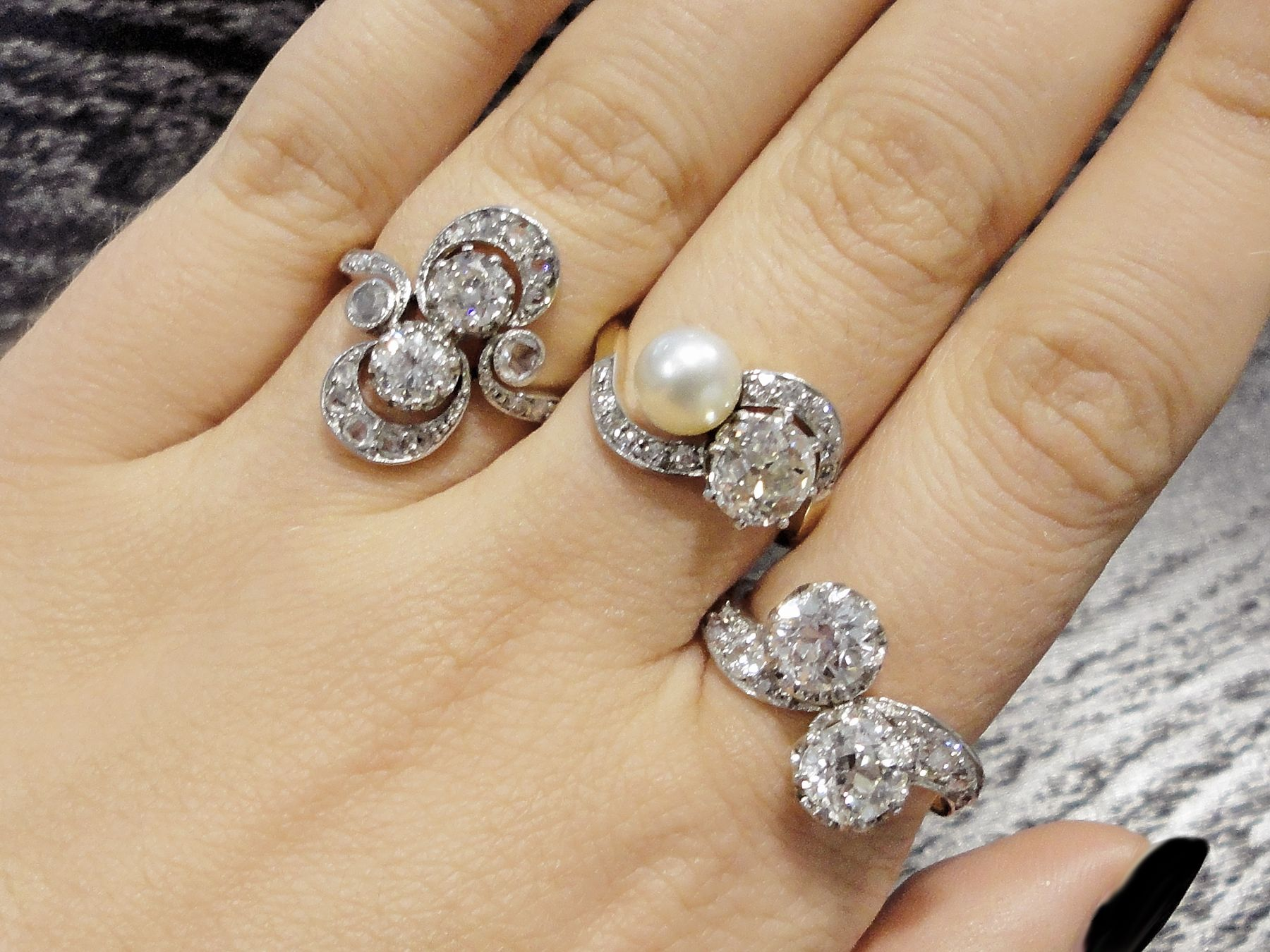 Toi et Moi Rings Silver engagement rings, Jewelry model