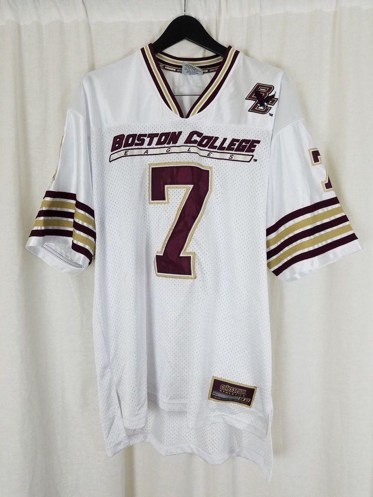 the best attitude ab758 7abf7 Colosseum Sewn BOSTON COLLEGE EAGLES No. 7 Football Jersey ...