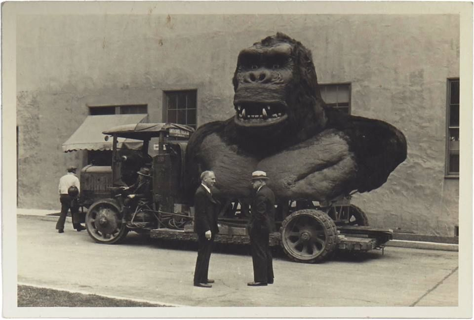 King Kong 1933 full size bust. — with Willis O'Brien, King Kong and Merian C. Cooper.