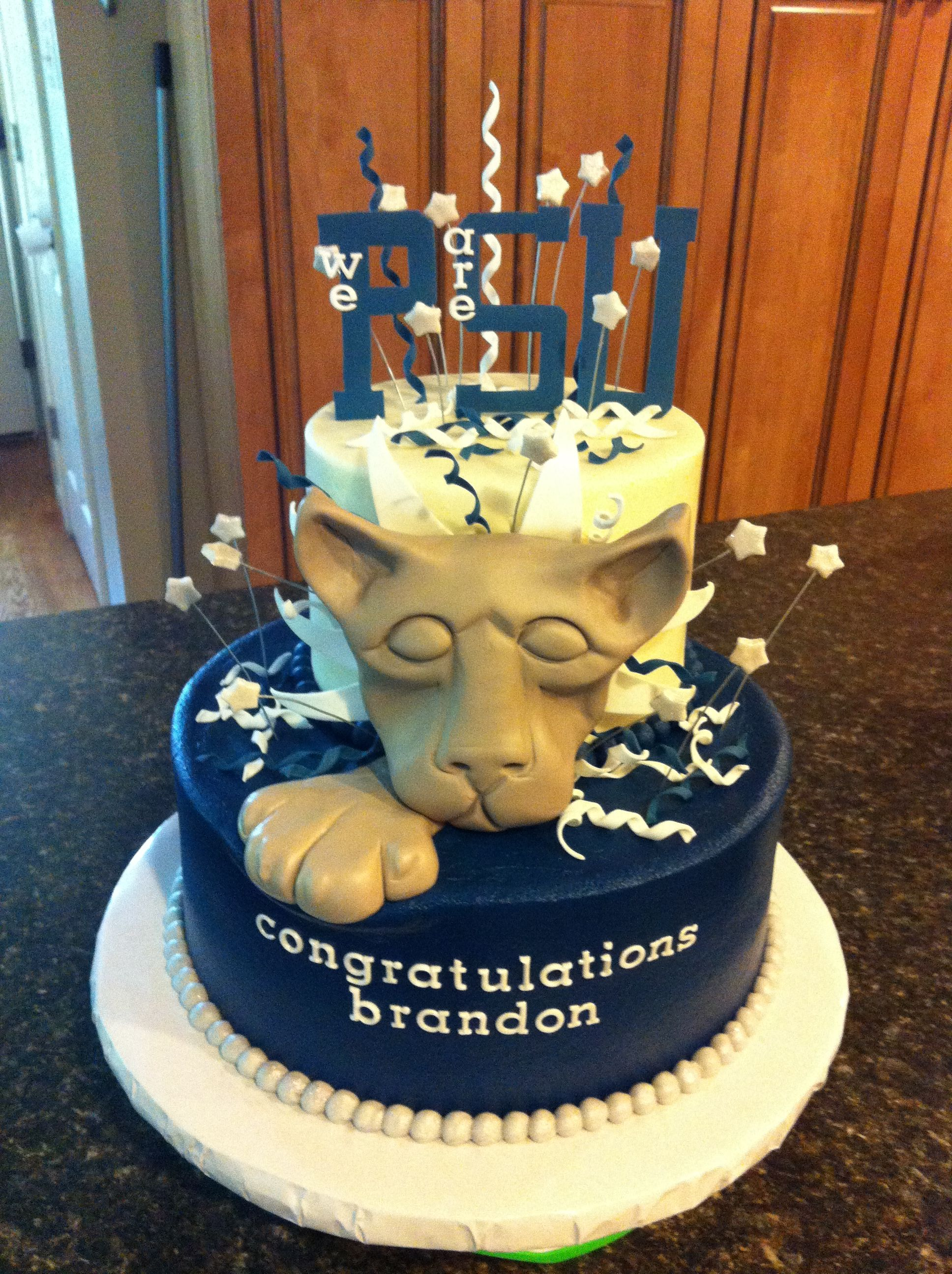 Off to penn state graduation cake my cakes cake