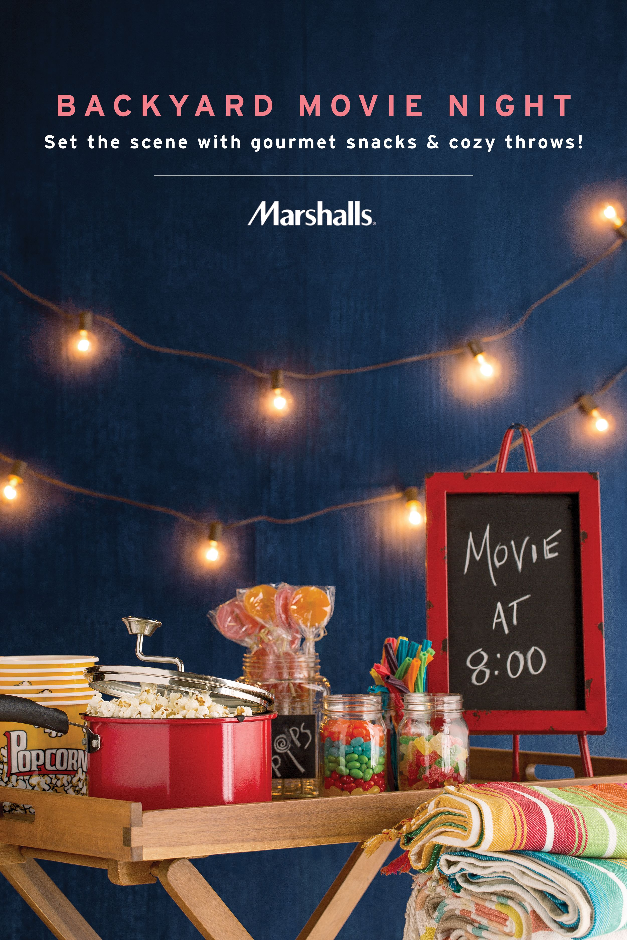 create your own backyard movie night set the scene with glowing