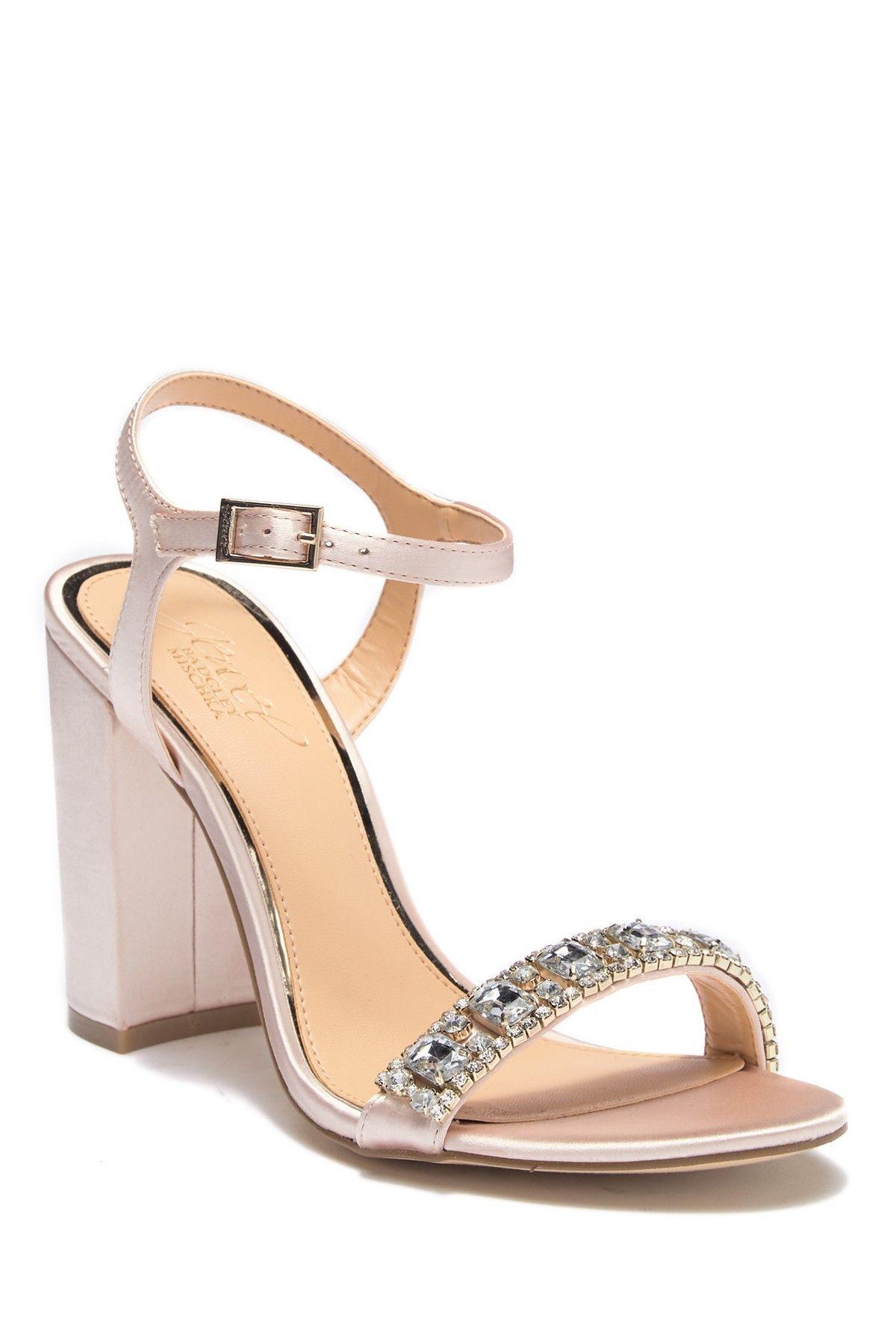 6c2ea8b04f3 Jewel Badgley Mischka - Hendricks Embellished Block Heel Sandal is now 50%  off. Free Shipping on orders over  100.