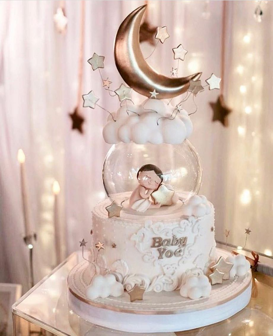 What A Beautiful Cake Inspiration For A New Born Baby Angel