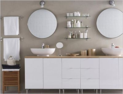 10 salles de bains contemporaines | Salle de bain blanche, Lavabo ...