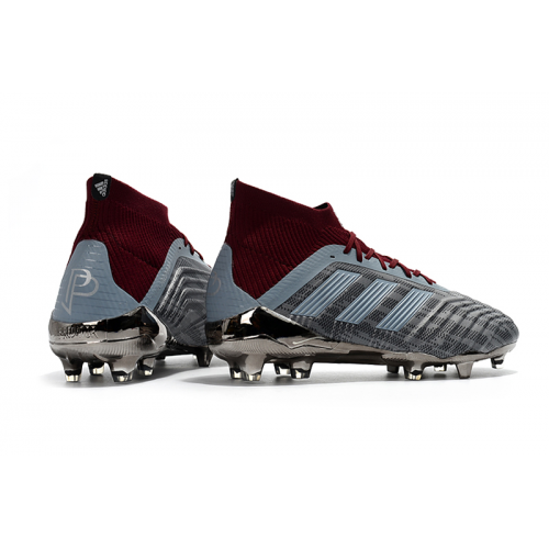 official photos f8642 16eb7 AD Paul Pogba Predator 18+ FG-Gray Red Botas Puma, Paul Pogba, Depredador