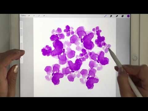 How to make a pattern on an ipad pro with the apple pencil and