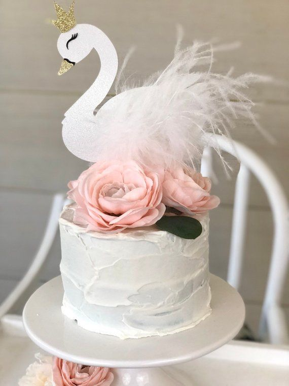 Swan Cake Topper| Swan Birthday Party| Swan Soiree Baby Shower| Swan Lake Wedding| -   20 cake Birthday party ideas