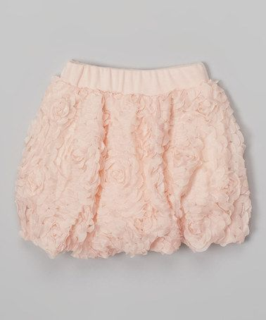 Another great find on #zulily! Pink Rosette Bubble Skirt - Toddler & Girls #zulilyfinds