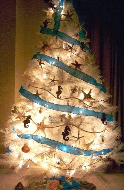 White Coastal Beach Christmas Trees -Ditch Green? Christmas design