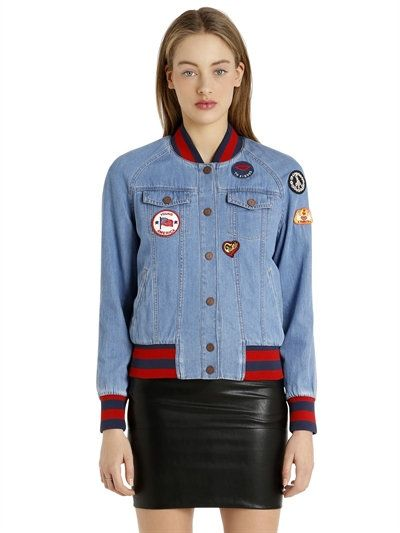 826fafce TOMMY HILFIGER Gigi Hadid Patches Denim Bomber Jacket, Blue. #tommyhilfiger  #cloth #casual jackets