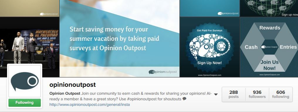 Are you following @OpinionOutpost on Instagram! If not, do so now! You won't regret it!