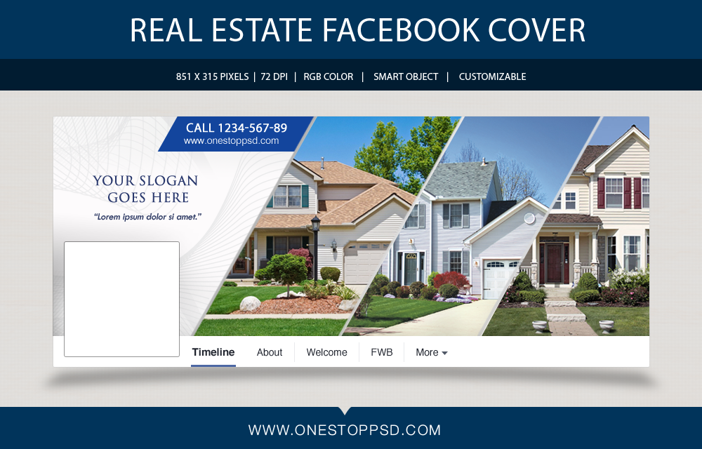 Free Download Real Estate Facebook Timeline Cover Psd