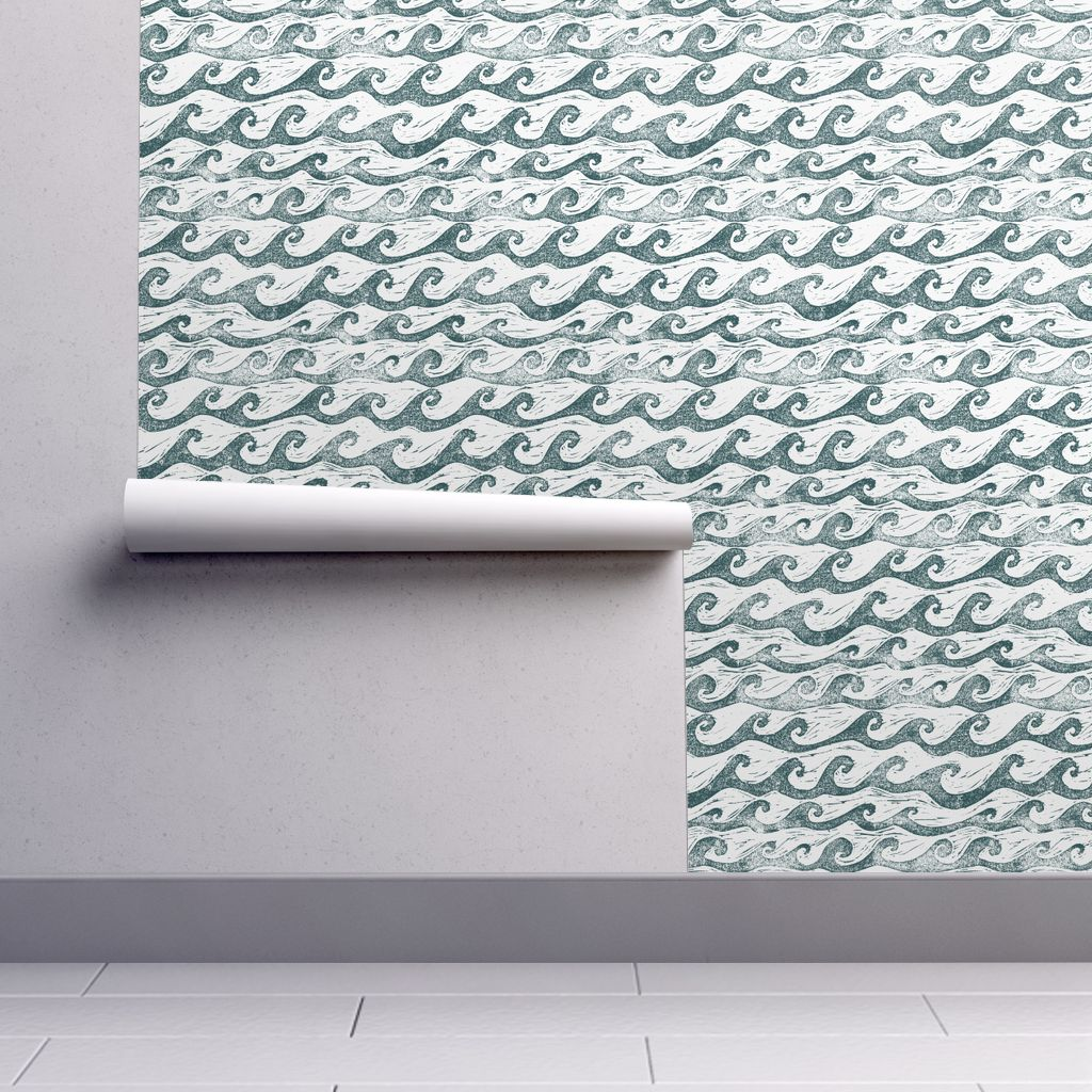Wallpaper Wave Waves wallpaper, Boys room wallpaper