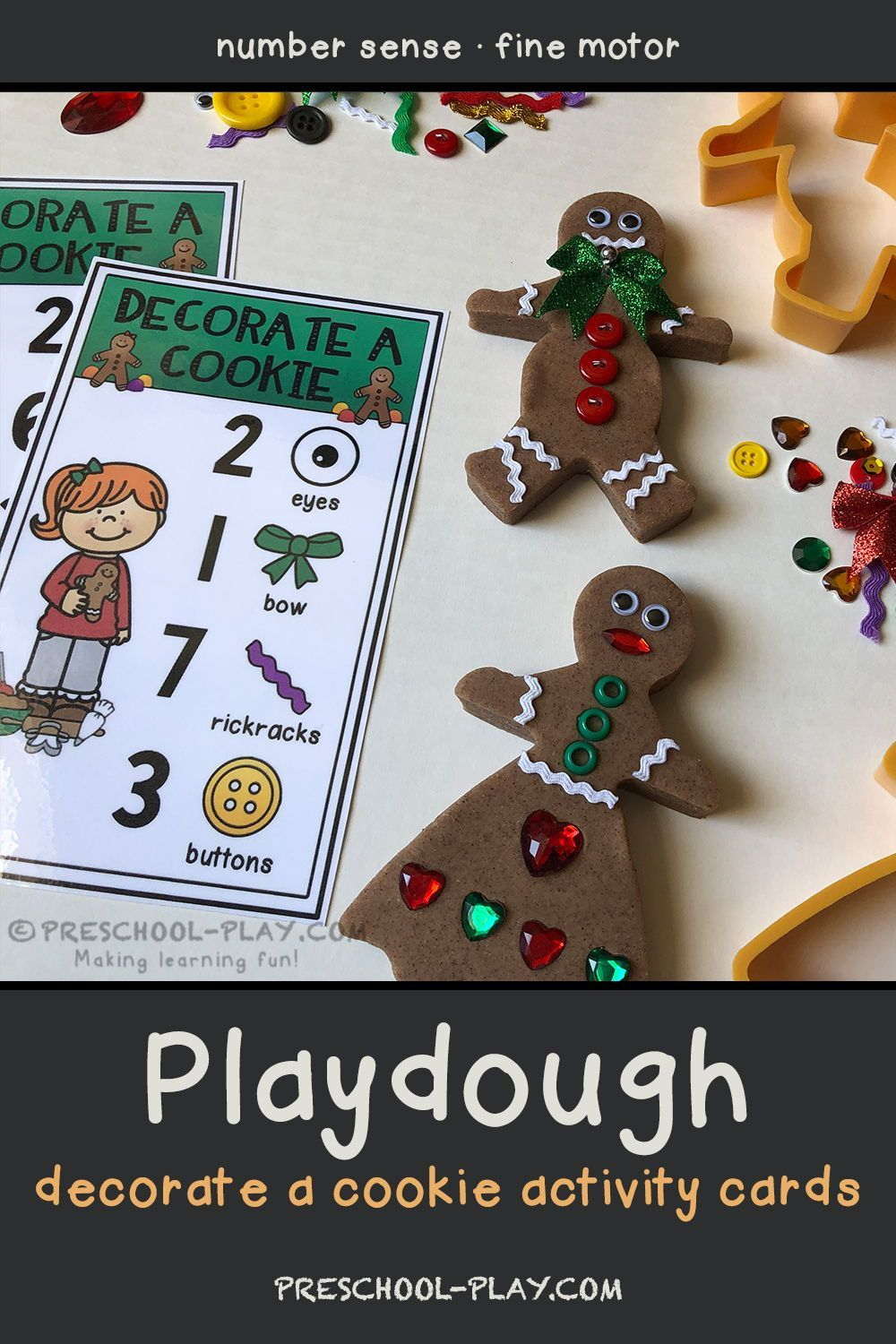 Decorate a Gingerbread Cookie Playdough Activity C