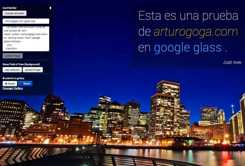 Crear simulación de Google Glass con Glass Sim | arturogoga