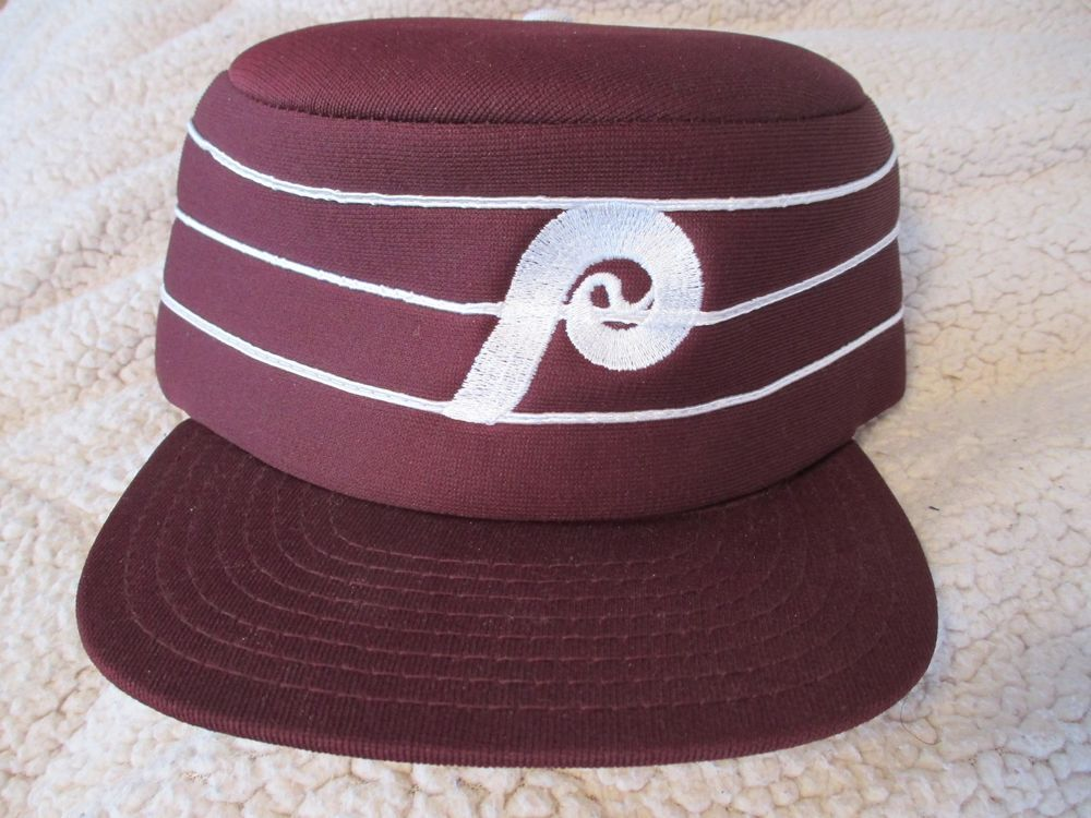 VTG 70s 80s Philadelphia Phillies SNAPBACK PILLBOX HAT Cap MLB jersey pill  box !  TwinsEnterprisesInc  PhiladelphiaPhillies adfb8d98f81