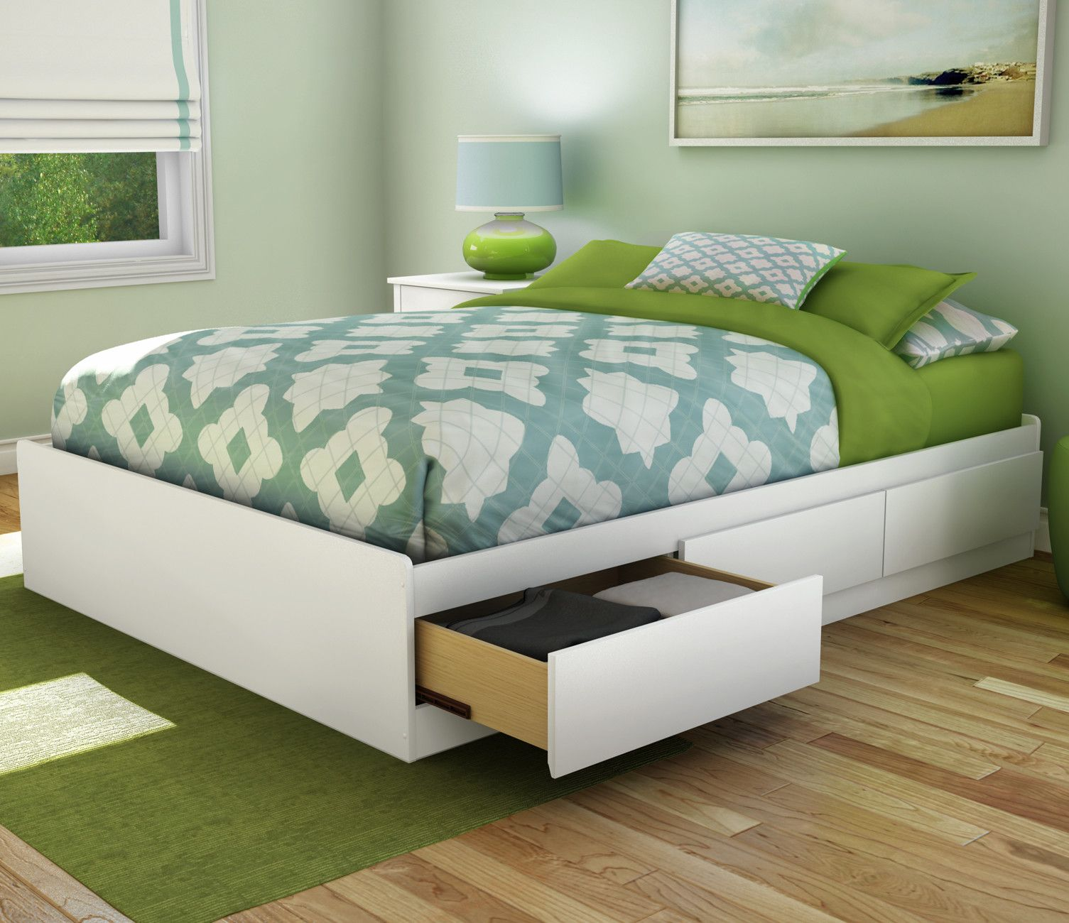 Best Step One Full Double Platform Bed Full Bed With Storage 400 x 300