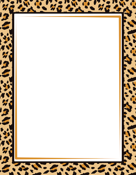 Border featuring a leopard print design. Free GIF, JPG, PDF, and PNG ...