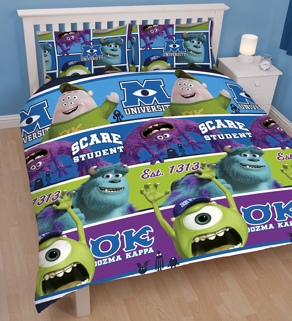 Monsters Inc University Double Duvet Set Cover Pillowcase Children S Kids