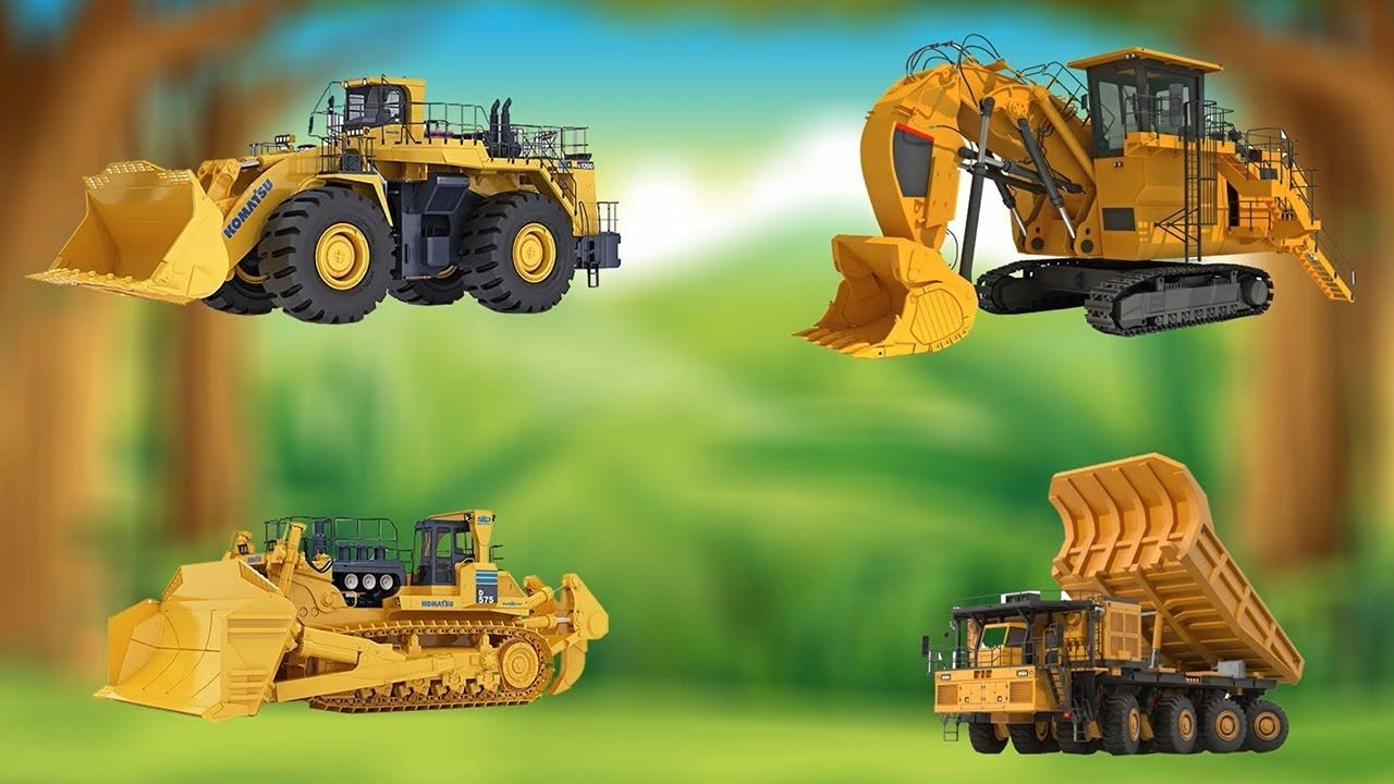 Construction Vehicles Names For Kids Excavator Dump Truck Bulldozer To Construction Vehicles Excavator Dump Truck