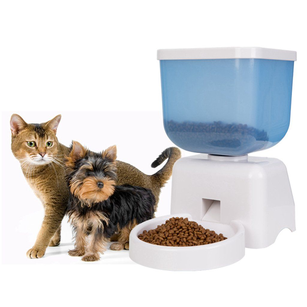 Good Life 5l Automatic Pet Feeder Auto Electronic Control Pet Dog Cat Food Feeder With Lcd Screen And Voice Record Timer Programmable Dry Battery And Pet Feeder