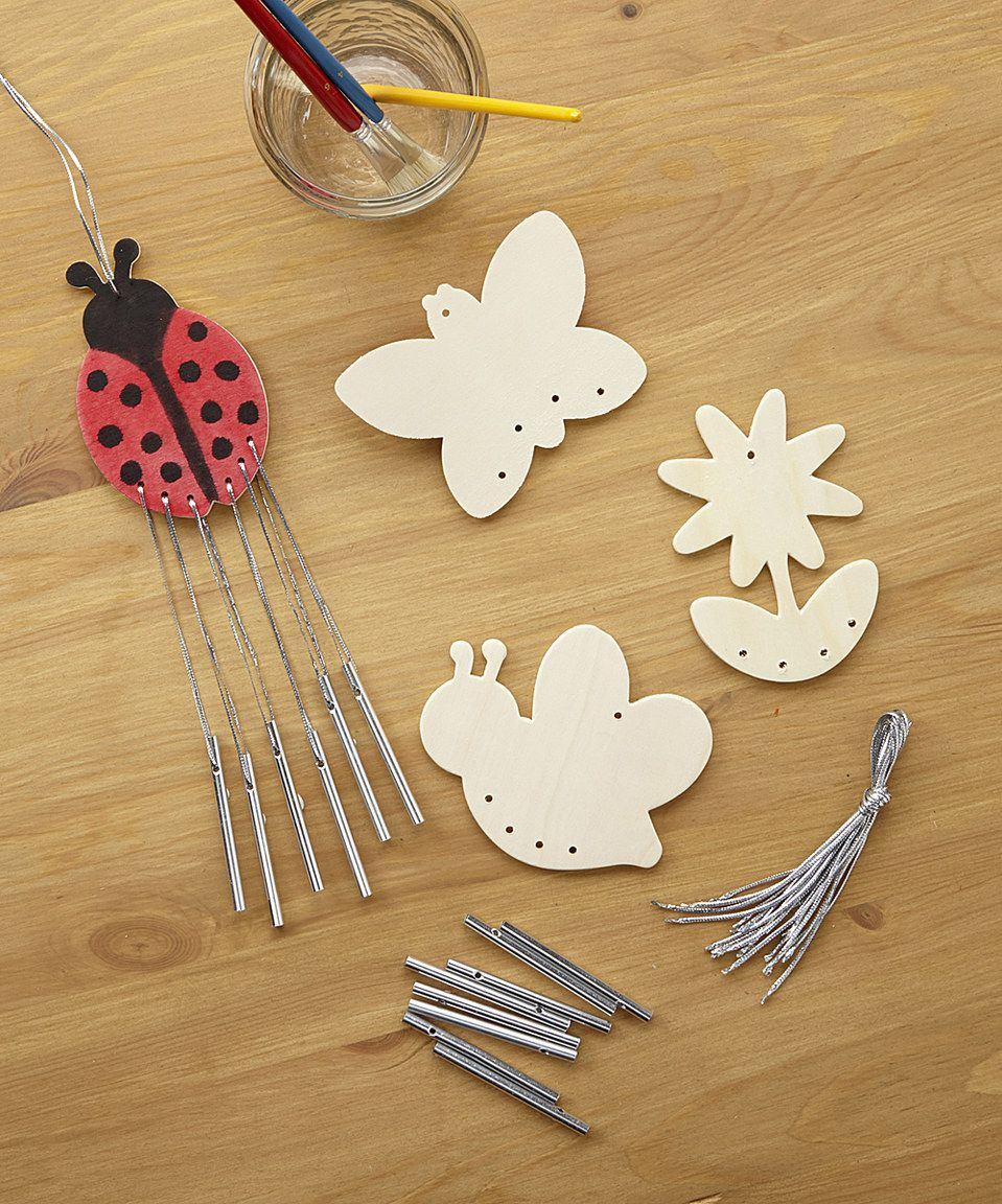 Another great find on zulily wood wind chime kit makes