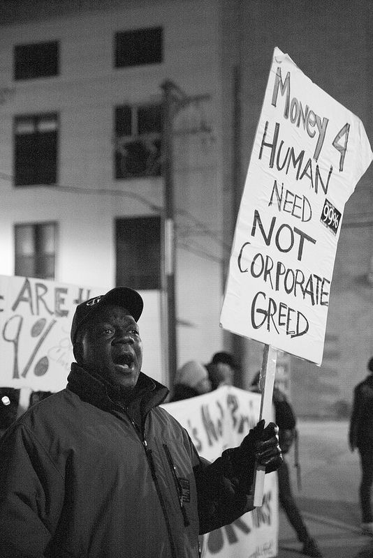 A Protestor Demonstrating Against The Closure Of The 63rd St Mental