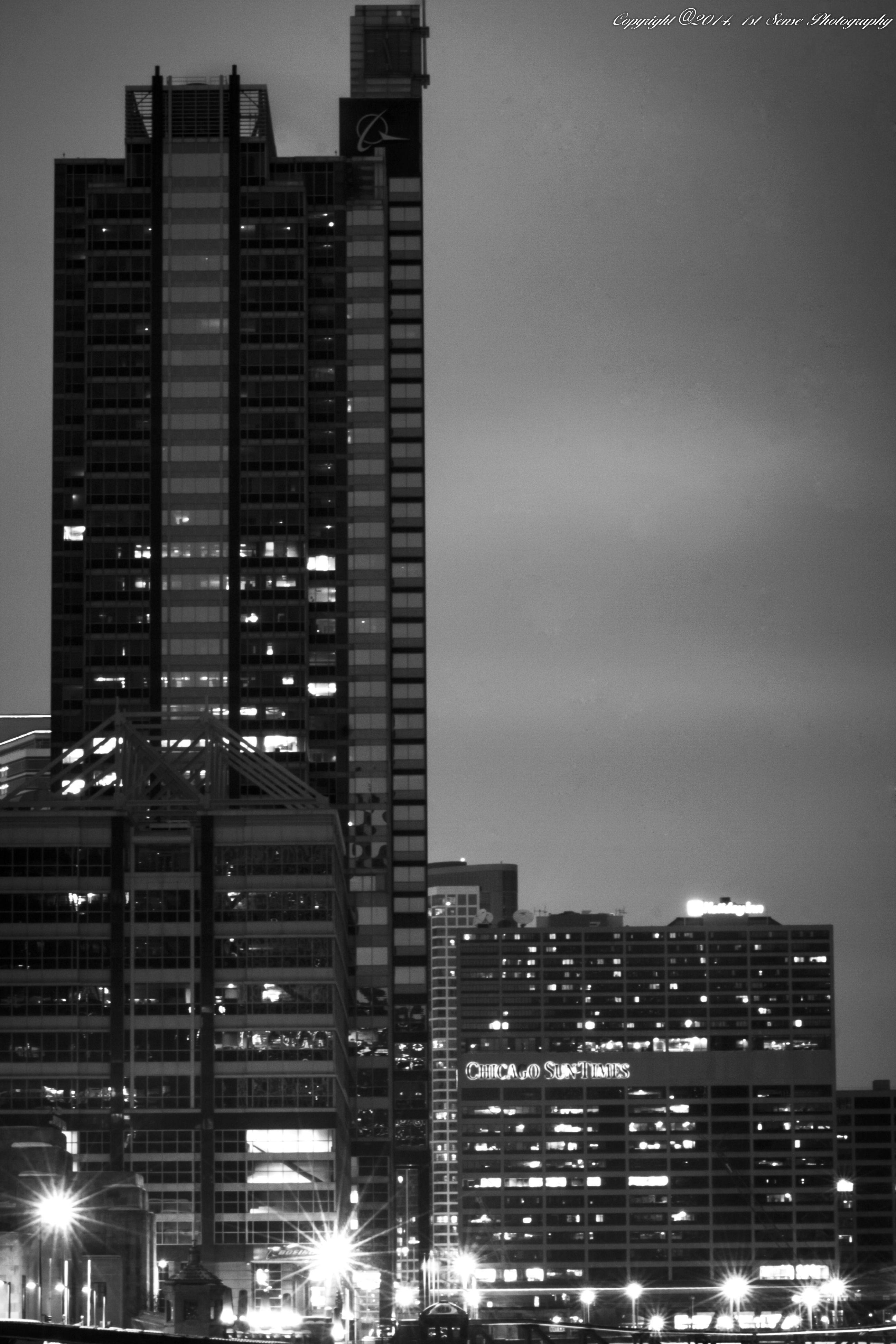 Chicago, Illinois Winter night, Chicago, Union station