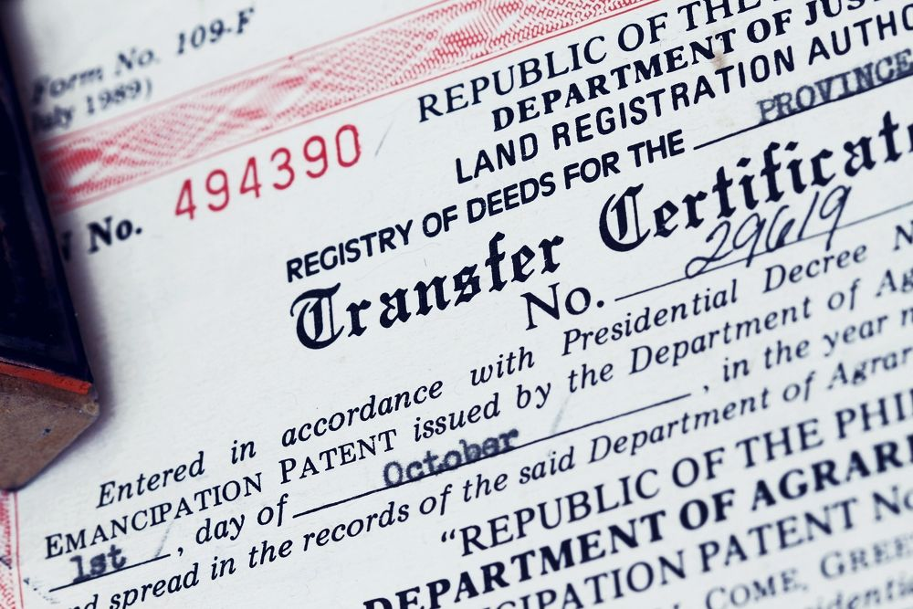 Five legal documents for purchasing a property