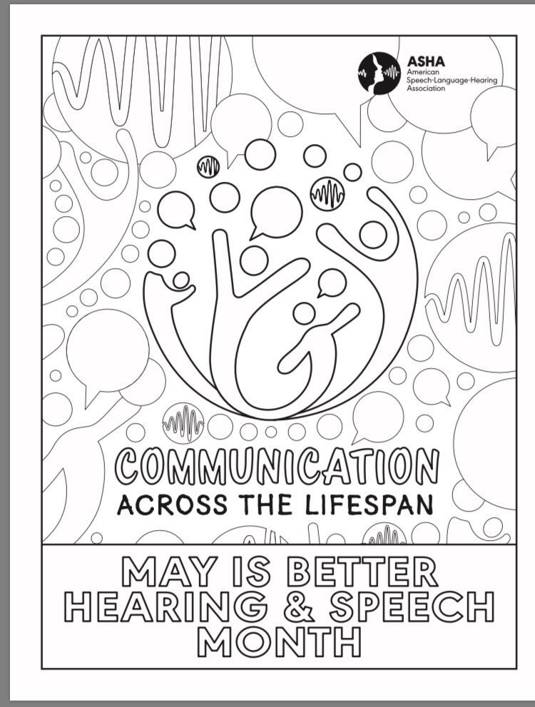 Better Hearing & Speech Month! This is a fun coloring