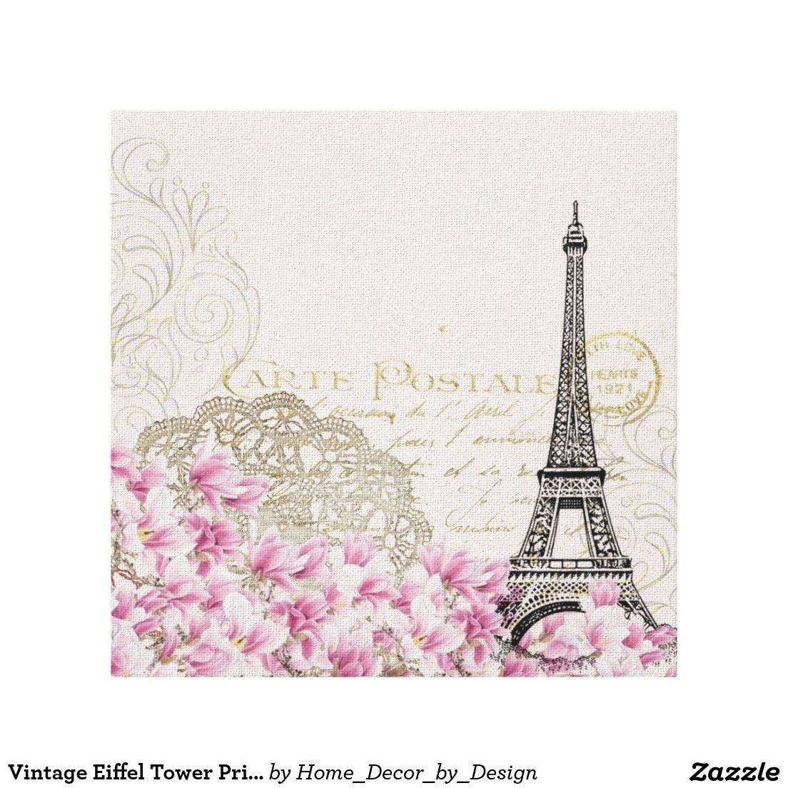 Vintage Eiffel Tower Print