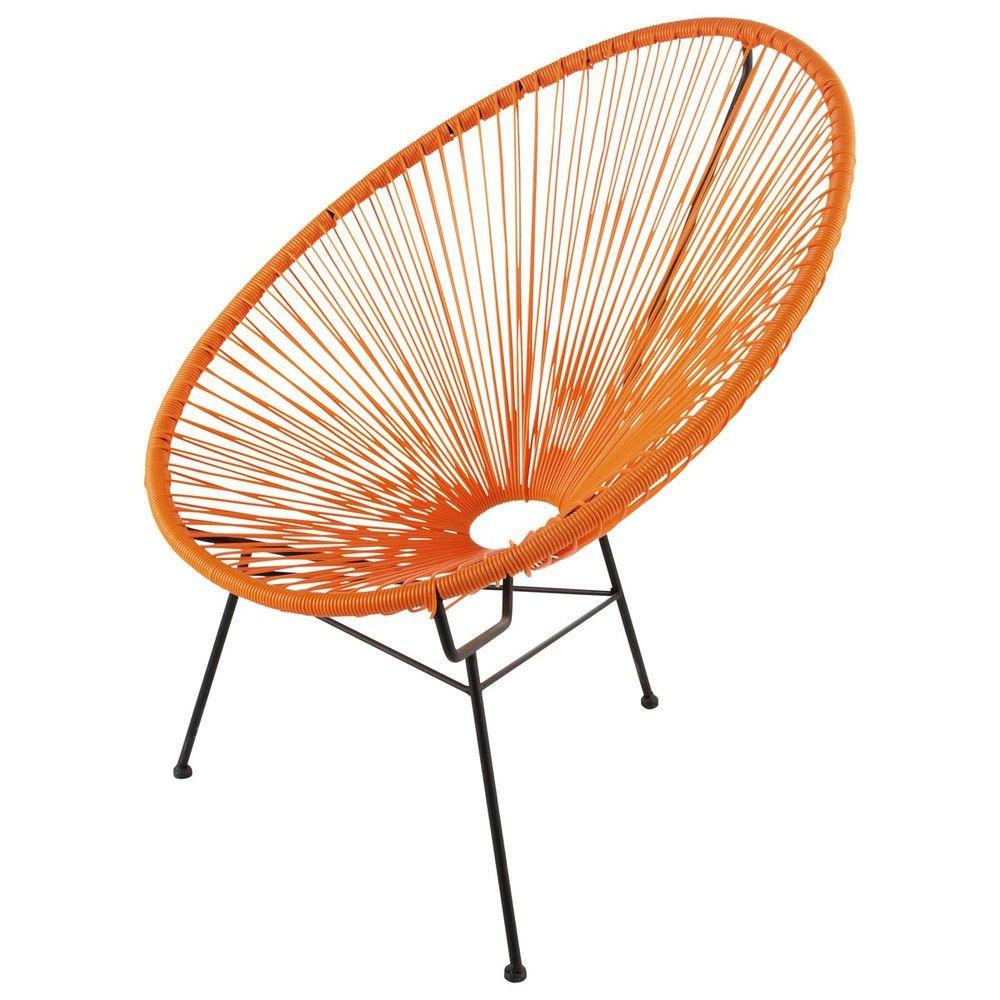 Fauteuil De Jardin Rond Orange Maisons Du Monde Lounge Chair Outdoor Retro Lounge Chairs Chair