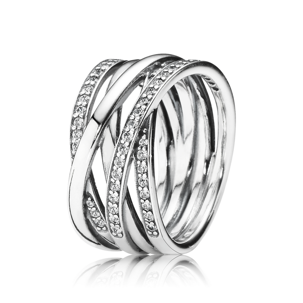 Entwined ring clear cz pandora jewelry us my christmas list