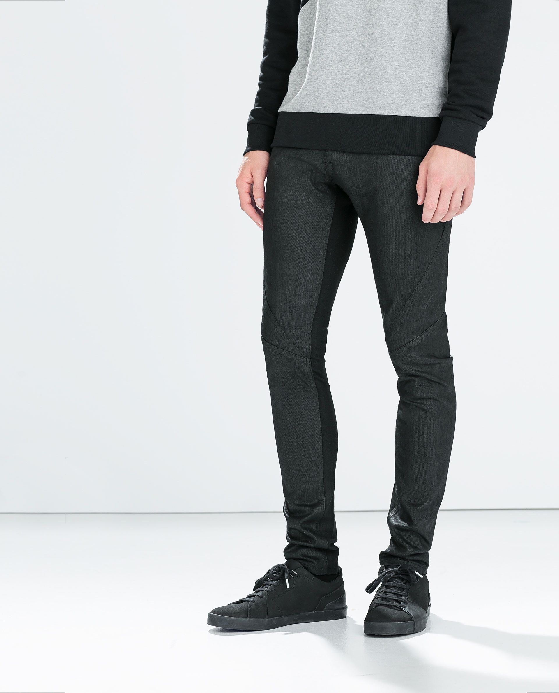 Image 2 of SEAMED TROUSERS WITH KNIT DETAIL from Zara