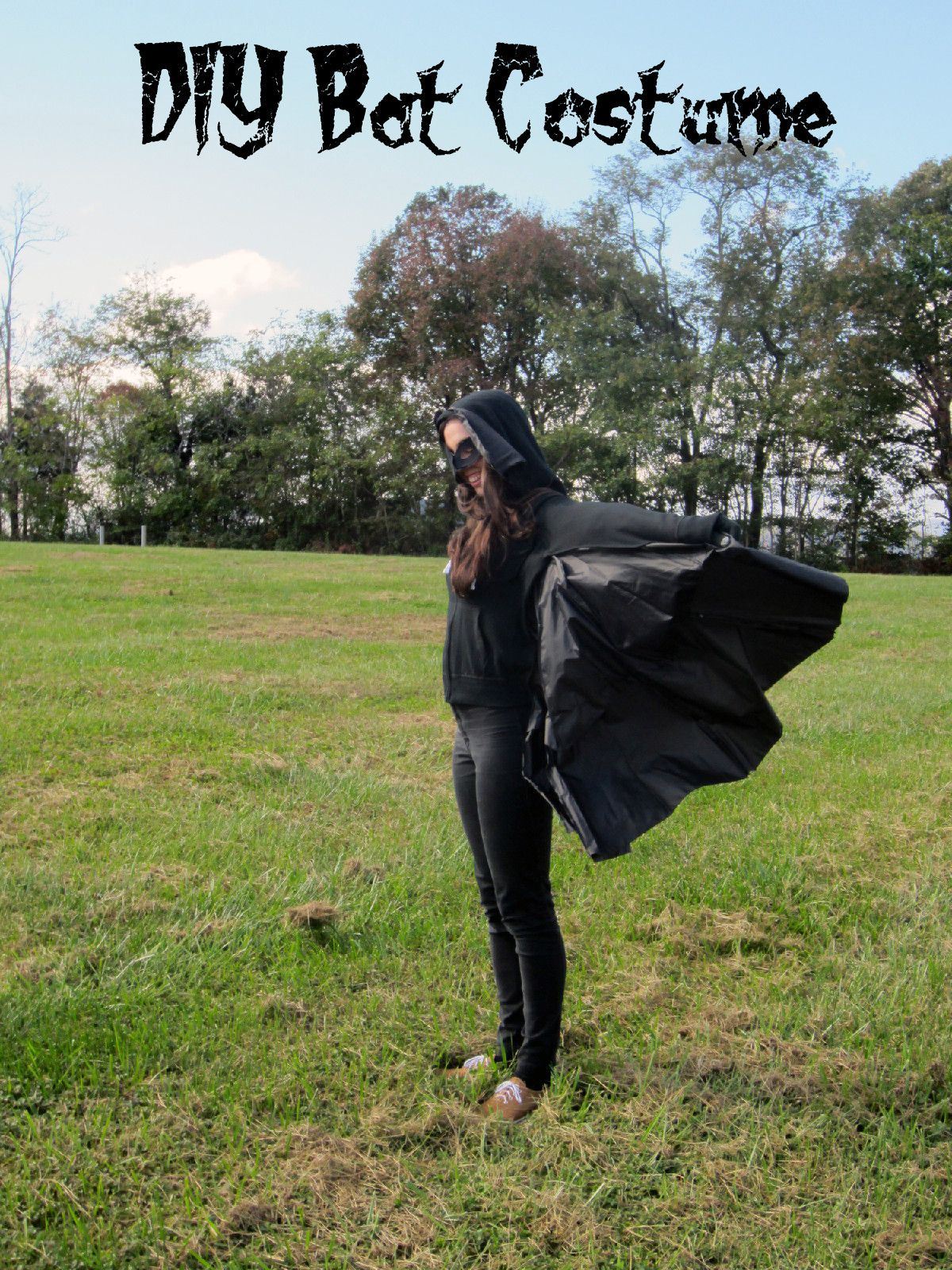 how to make a bat costume from an umbrella