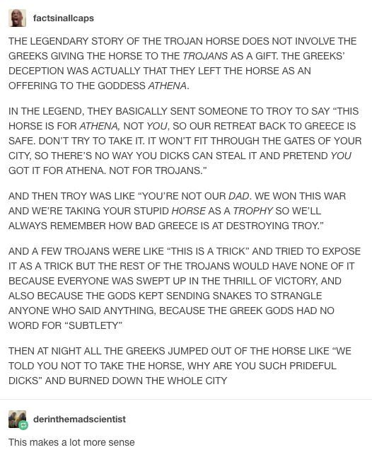 The Trojan Horse Wasnt A Gift For The Trojans Ad Geeki Mean