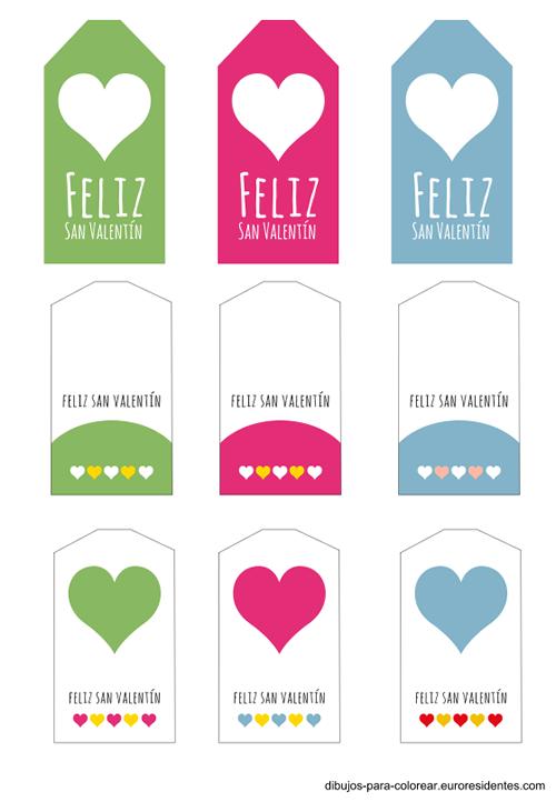 Etiquetas para San Valentín gratis | San valentín, Etiquetas y Santos