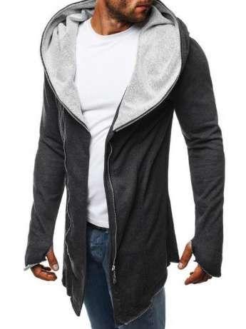 ad453f31f6ac Мужская кофта/куртка/мантия серая, черная, графит (чоловіча кофта ...
