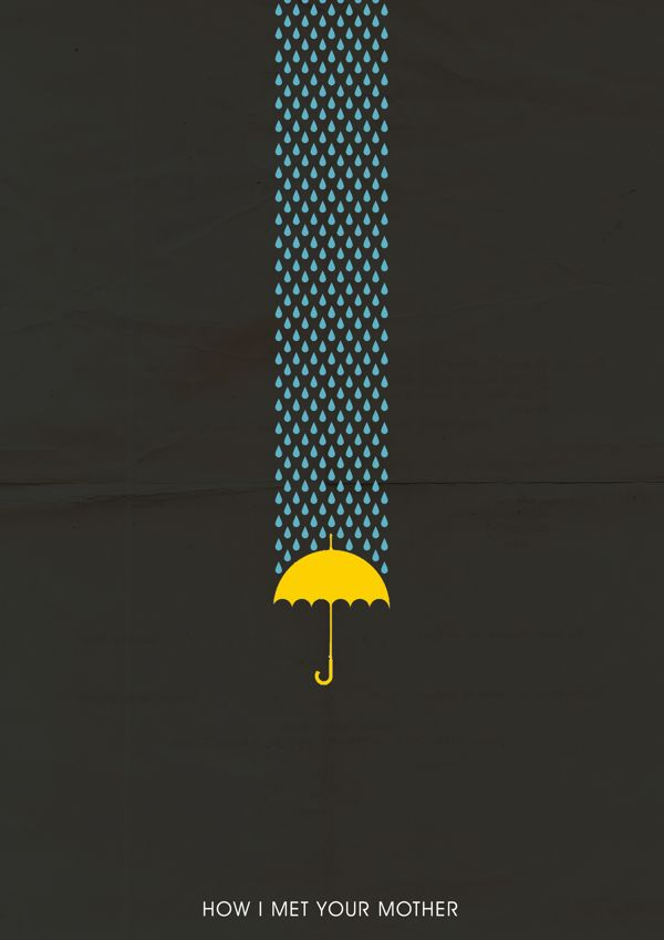 "Yellow Umbrella How I Met Your Mother Poster MINIMALIST ""HOW I..."
