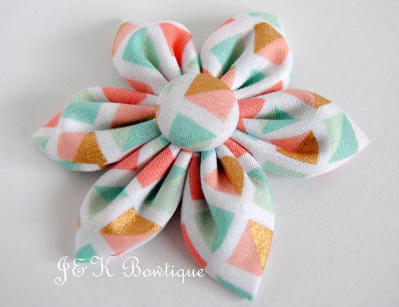 953c62eaa089 Fabric flower hair clip