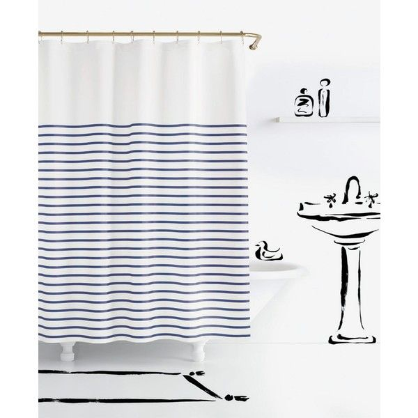 Kate Spade New York Harbour Stripe Shower Curtain 50 Liked