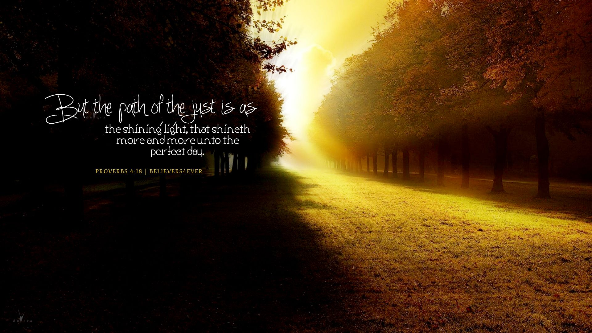 The path of the just Christian desktop wallpaper from
