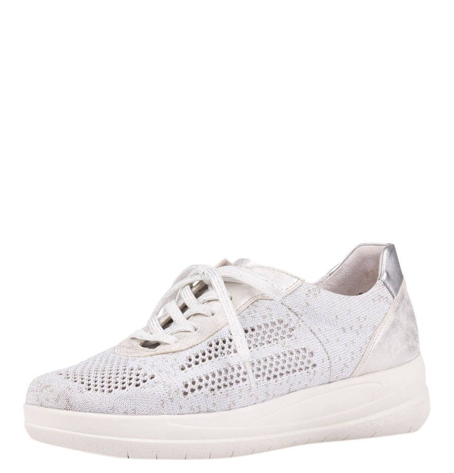 remonte Sneaker, Materialmix, Metallic Details, meliert