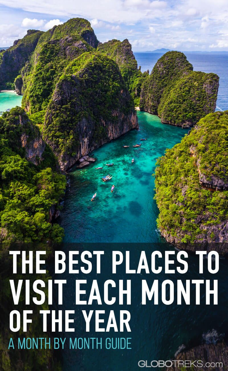 The Best Places To Visit Each Month of the Year