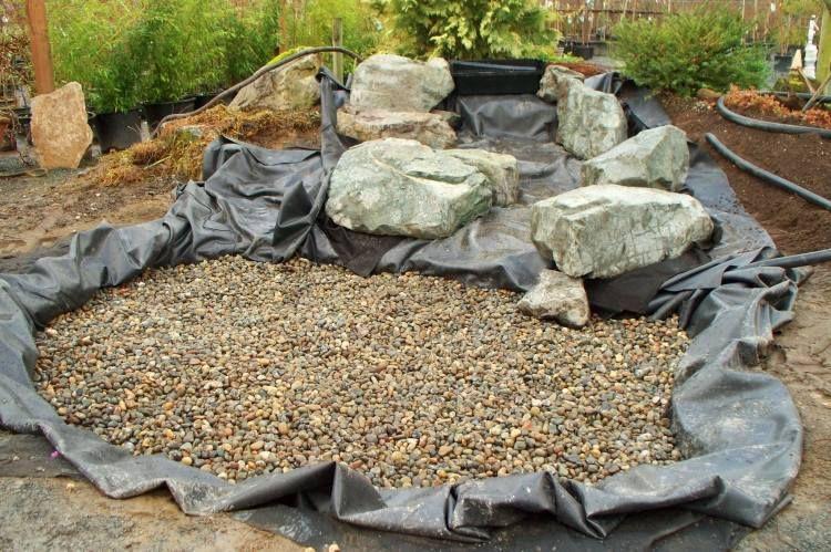 kies und steine am untergrund auflegen | wasserlauf | pinterest, Gartengerate ideen