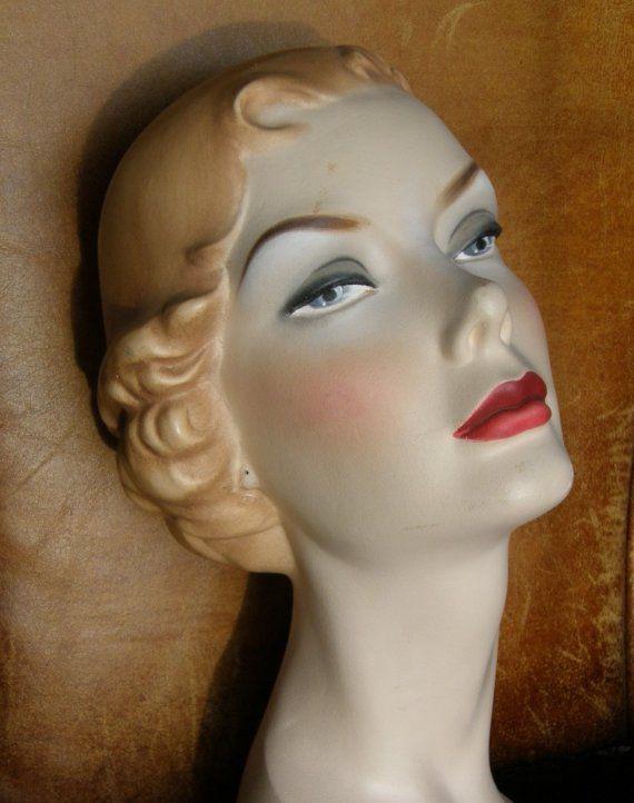 Vintage Mannequin Head Vintage Glamour Vrouwelijk