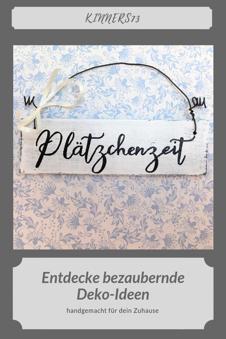 """holzschild handbemalt """"plätzchenzeit"""" türschild deko"""