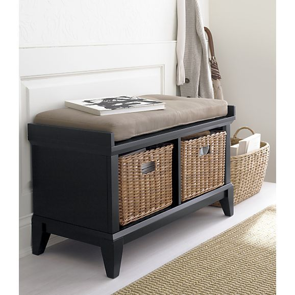 Paterson Black Storage Bench In Entryway Benches Crate And